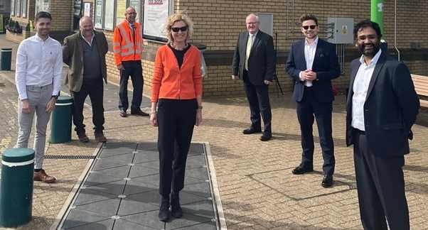 UK first for Leighton Buzzard train station following installation of kinetic flooring
