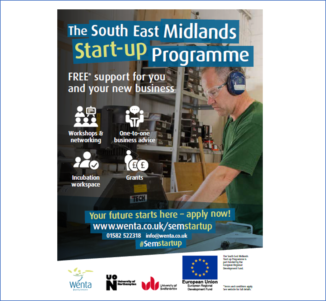 Business support for new entrepreneurs in Central Bedfordshire