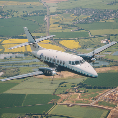 Cranfield Airport prepares for delivery of Saab 340B aeroplane
