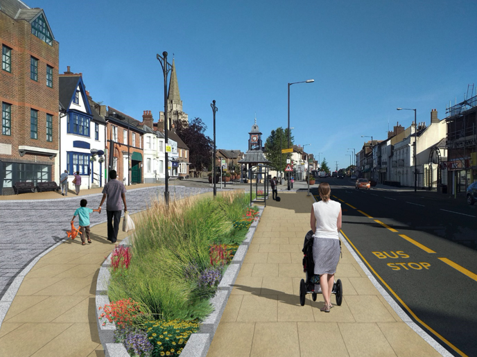Work starts on next phases of Dunstable High Street regeneration